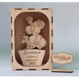 Ballagási ajándék Egyéni felirattal. /Orchidea/