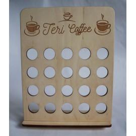 Nespresso kávékapszula tartó
