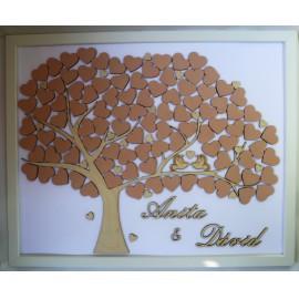 Esküvői emlékmegőrző képkeret/vendégkönyv